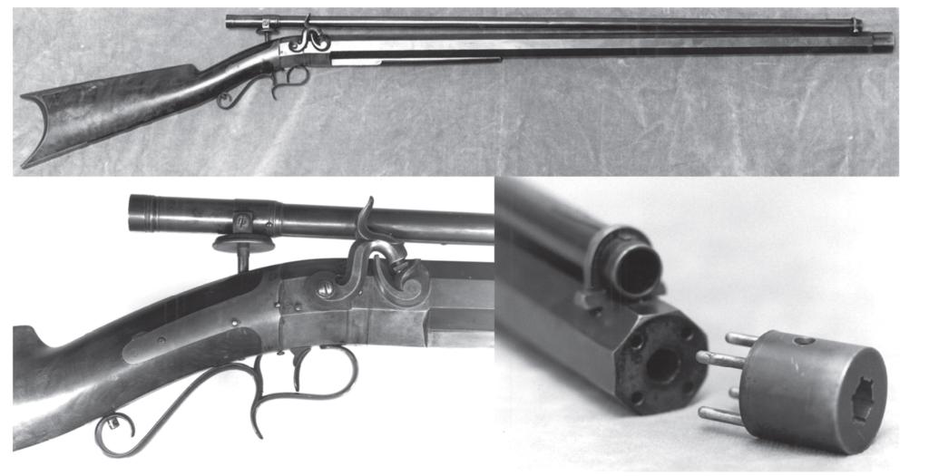 Снайперская винтовка Моргана Джеймса с прицелом Чепмена-Джеймса.