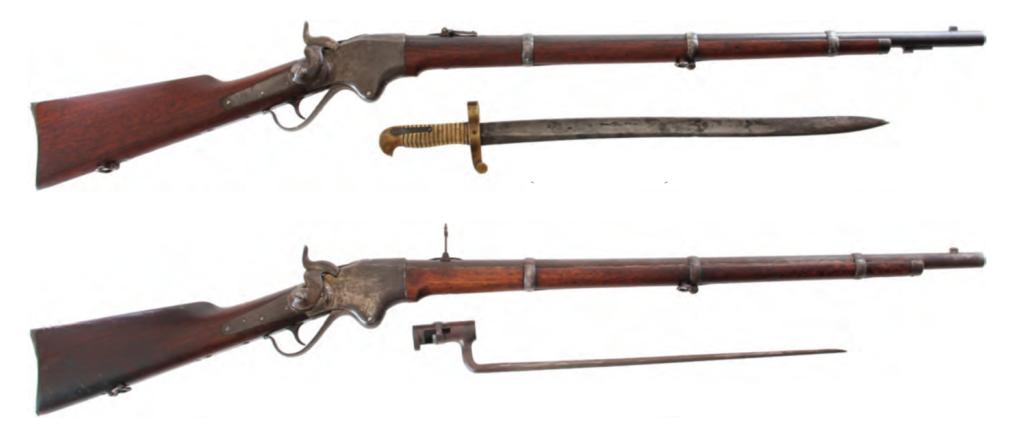 Морской (вверху) и сухопутный (внизу) варианты винтовки Спенсера