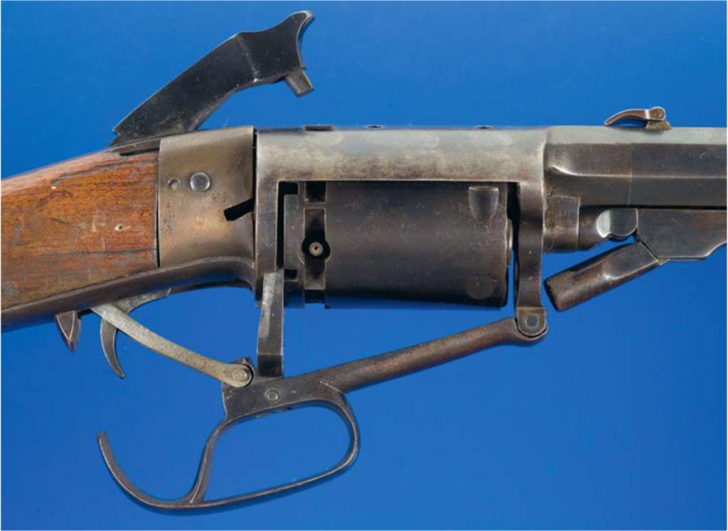 Устройства револьверной винтовки Норта и Скиннера.