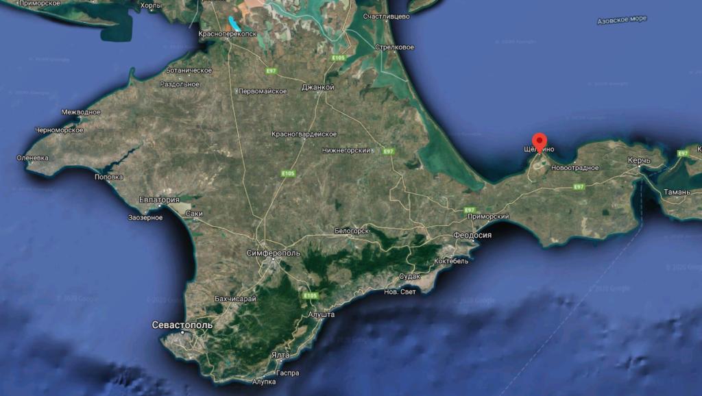 Крымской АЭС, Карта Крыма