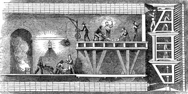 Прокладка тоннеля с помощью щита Брюнеля
