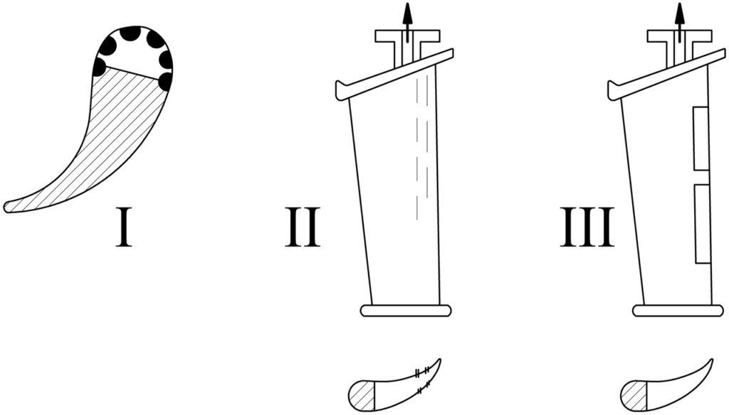 направляющие лопатки с щелями для сепарации пара в турбине на влажном паре