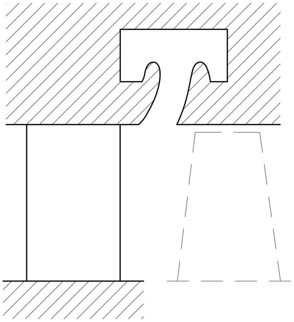 сепарация за сопловыми лопатками