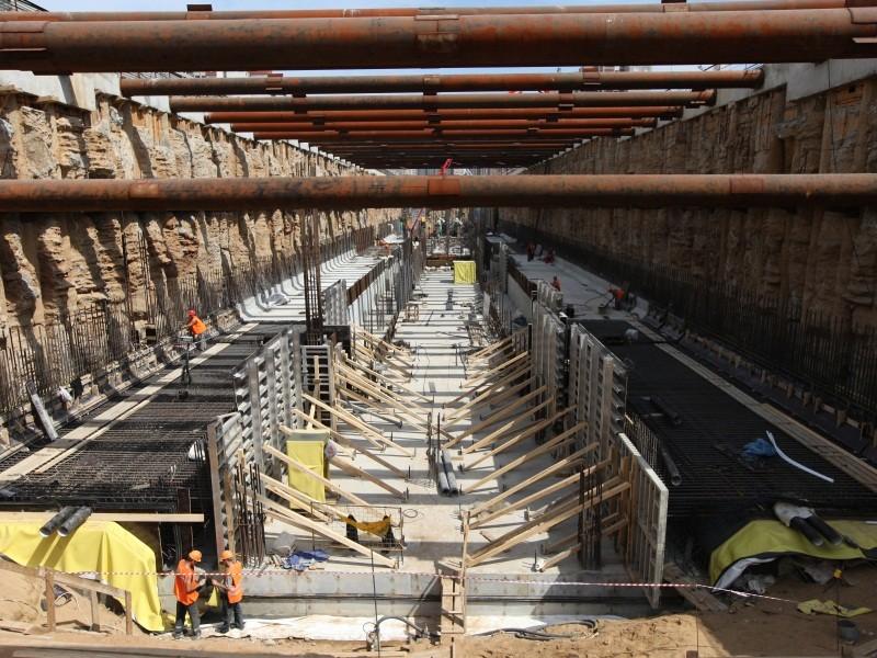 Прокладка тоннелей открытым способом