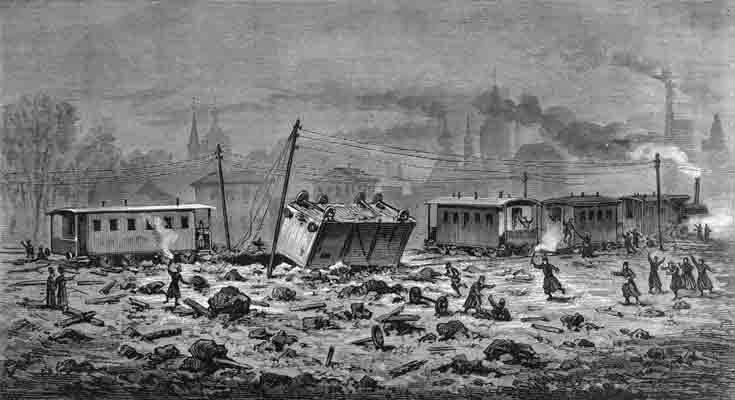 взрыв свитского поезда покушение на Александра II совершено
