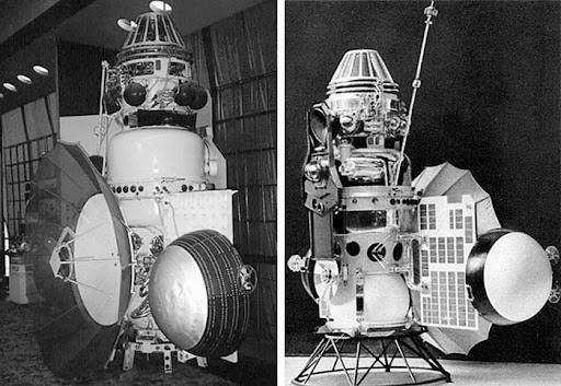 Станции Венера-2 (слева) и Венера-3 (справа).