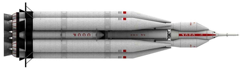 РН «УР-700» с экспедиционным комплексом «ЛК-700»